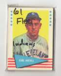 1961 Fleer - CLEVELAND INDIANS Team Set EX Condition