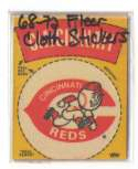 1968-72 Fleer Cloth Stickers - CINCINNATI REDS Team Set