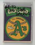 1968-72 Fleer Cloth Stickers - OAKLAND A's Team set