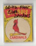 1968-72 Fleer Cloth Stickers - ST LOUIS CARDINALS Team Set