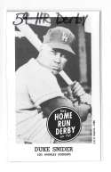 1959 Home Run Derby Reprints - LOS ANGELES DODGERS Team Set
