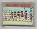1970 O-Pee-Chee (OPC) VG-EX - BALTIMORE ORIOLES Near Team Set - 5 cards