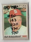 1970 O-Pee-Chee (OPC) VG-EX - ST LOUIS CARDINALS Near Team Set  -5 cards