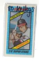 1980 Kelloggs CLEVELAND INDIANS Team Set