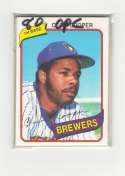 1980 O-Pee-Chee (OPC) MILWAUKEE BREWERS Team Set