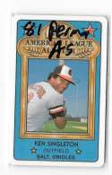 1981 Perma-Graphics All-Stars BALTIMORE ORIOLES Team Set