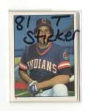 1981 Topps Stickers CLEVELAND INDIANS Team Set
