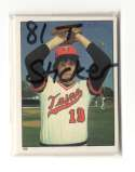 1981 Topps Stickers MINNESOTA TWINS Team Set