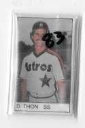 1983 All-Star Game Program Inserts HOUSTON ASTROS Team set