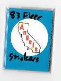 1983 Fleer Stickers CALIFORNIA ANGELS Team set
