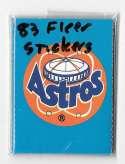 1983 Fleer Stickers HOUSTON ASTROS Team set