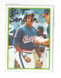 1986 Topps Glossy Send-Ins - TEXAS RANGERS