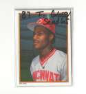 1987 Topps Glossy Send-Ins - CINCINNATI REDS Team Set