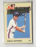 1987 Jackson METS Team Issue Minor League Set