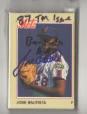 1987 Jackson METS Team Issue Minor League Set Jose Bautista Autographed