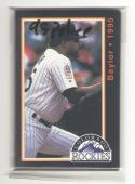 1995 COLORADO ROCKIES Team Set Police set