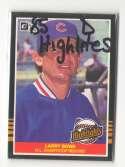 1985 Donruss Highlights - CHICAGO CUBS Team Set