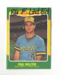 1986 Fleer Limited Edition MILWAUKEE BREWERS Team Set