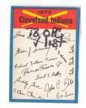 1973 O-Pee-Chee Blue Team Checklist Card CLEVELAND INDIANS