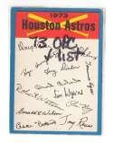 1973 O-Pee-Chee Blue Team Checklist Card HOUSTON ASTROS