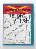 1973 O-Pee-Chee Blue Team Checklist Card MILWAUKEE BREWERS