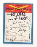 1973 O-Pee-Chee Blue Team Checklist Card NEW YORK METS