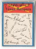 1973 O-Pee-Chee Blue Team Checklist Card TEXAS RANGERS