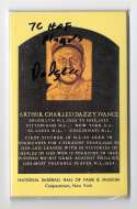 1976 Hall of Fame Plaque Postcards - LOS ANGELES DODGERS Team Set