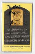 1976 Hall of Fame Plaque Postcards - OAKLAND A's Team set