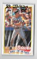 1989 Topps LJN Talking Baseball - ATLANTA BRAVES Team Set