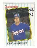 1987 Fleer League Leaders - TEXAS RANGERS Team Set
