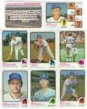 1973 Topps EX+ LOS ANGELES DODGERS Team Set