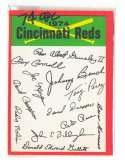1974 O-Pee-Chee Team Checklist Card CINCINNATI REDS
