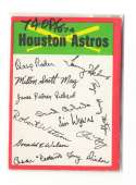 1974 O-Pee-Chee Team Checklist Card HOUSTON ASTROS