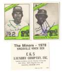 1978 TCMA Minor League Team Set - Knoxville Knox Sox Baines and LaRussa Auto (White Sox)
