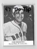 1947 TIP TOP BREAD Reprints - ST LOUIS BROWNS (ORIOLES) Team Set