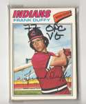 1977 O-Pee-Chee (OPC) (VG conditon) CLEVELAND INDIANS Team Set