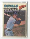 1977 Topps Cloth Stickers - KANSAS CITY ROYALS Team Set