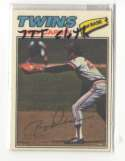 1977 Topps Cloth Stickers - MINNESOTA TWINS Team Set
