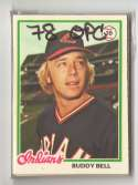 1978 O-PEE-CHEE (OPC) - CLEVELAND INDIANS Team Set