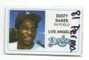 1981 Perma-Graphics Credit Cards - LOS ANGELES DODGERS Team Set