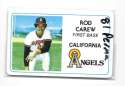 1981 Perma-Graphics Credit Cards - CALIFORNIA ANGELS Team Set