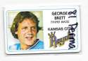 1981 Perma-Graphics Credit Cards - KANSAS CITY ROYALS Team Set