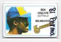 1981 Perma-Graphics Credit Cards - MILWAUKEE BREWERS Team Set