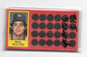 1981 Topps Scratchoff - MILWAUKEE BREWERS Team Set