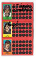 1981 Topps Scratchoff (Full Panel each player) CALIFORNIA ANGELS Team Set