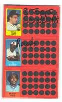 1981 Topps Scratchoff (Full Panel each player) KANSAS CITY ROYALS Team Set
