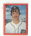 1982 Topps Stickers - DETROIT TIGERS Team Set