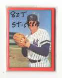 1982 Topps Stickers - NEW YORK YANKEES Team Set