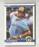 1984 Fleer Update - MILWAUKEE BREWERS Team Set